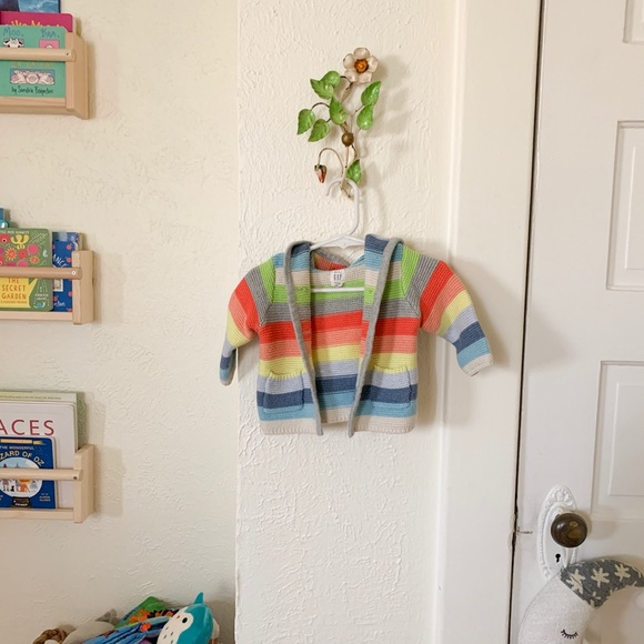 GAP Other - Rainbow knitted hoodie
